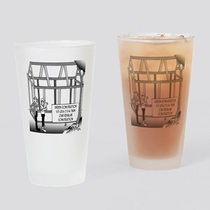 Green Construction Drinking Glass