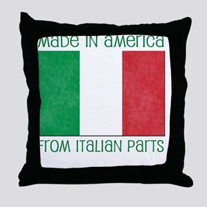 america - italian parts copy Throw Pillow