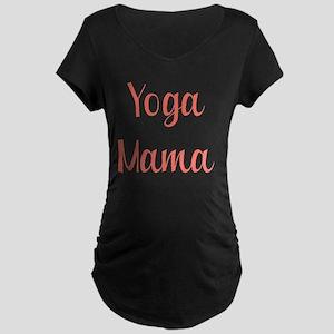 yoga mama novelty Maternity Dark T-Shirt