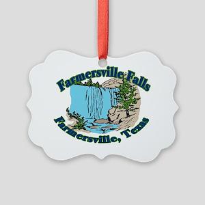 Farmersville Falls 2 Picture Ornament