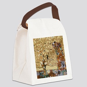 Gustav Klimt Tree Of Life Canvas Lunch Bag