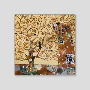 "Gustav Klimt Tree Of Life Square Sticker 3"" x 3"""