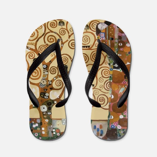Gustav Klimt Tree Of Life Flip Flops
