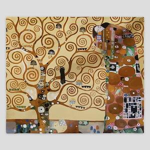 Gustav Klimt Tree Of Life King Duvet
