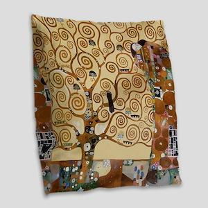 Gustav Klimt Tree Of Life Burlap Throw Pillow