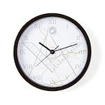Masonic faux marble Wall Clock