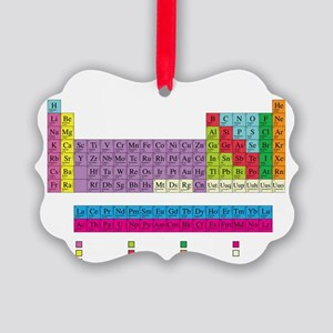 periodic_table_dark Picture Ornament
