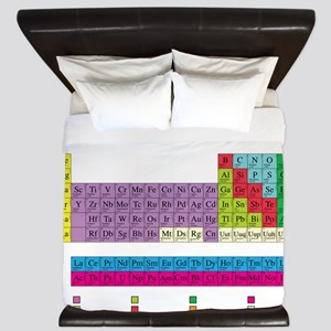 periodic_table_dark King Duvet