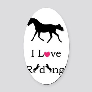 i_love_riding2 Oval Car Magnet