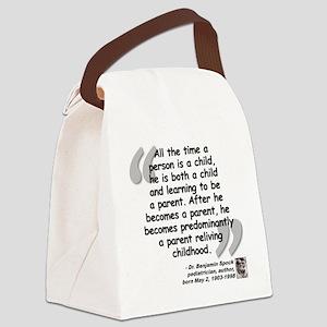 Spock Parent Quote Canvas Lunch Bag