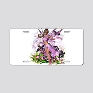 Pretty Pink Fairy Aluminum License Plate