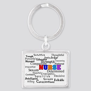NURSE Describing words Landscape Keychain