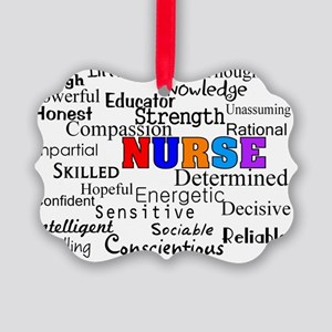 NURSE Describing words Picture Ornament