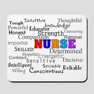 NURSE Describing words Mousepad