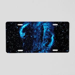 Cygnus Loop Nebula Aluminum License Plate
