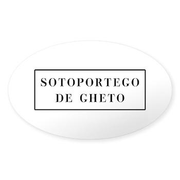 Sotoportego de Gheto, Venice (IT) Oval Sticker