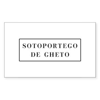 Sotoportego de Gheto, Venice (IT) Sticker (Rectang