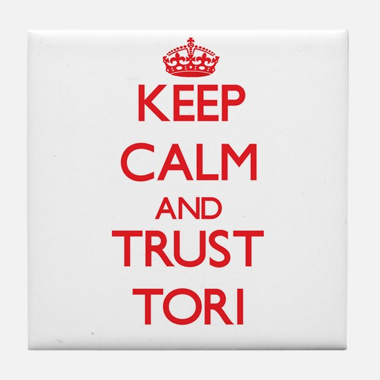Keep Calm and TRUST Tori Tile Coaster