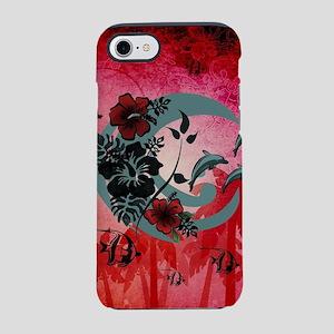 Aloha, hawaiian design, palm and flowers iPhone 7