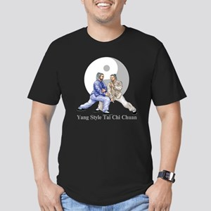 yingyangshoulderLight Men's Fitted T-Shirt (dark)