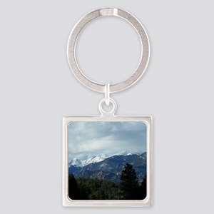 The Rockies Square Keychain