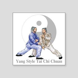 "yingyangshoulderLight Square Sticker 3"" x 3"""