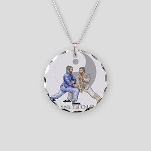 yingyangshoulderLight Necklace Circle Charm