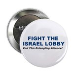 """Fight the Israel Lobby 2.25"""" Button (100 pack)"""
