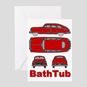 BathTub design Greeting Card