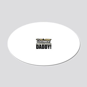 babCAFEPOSTER 20x12 Oval Wall Decal