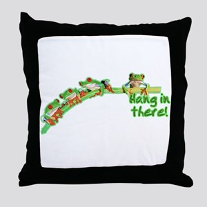Froggies (Hang) Throw Pillow