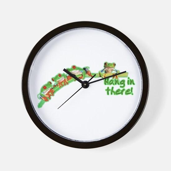 Froggies (Hang) Wall Clock