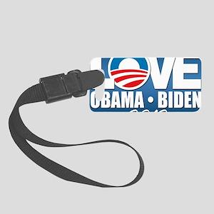 LOVE Obama Biden 2012 Small Luggage Tag
