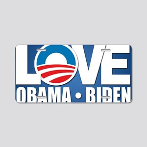 LOVE Obama Biden Aluminum License Plate