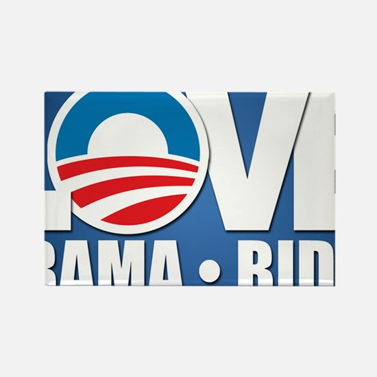 LOVE Obama Biden Rectangle Magnet
