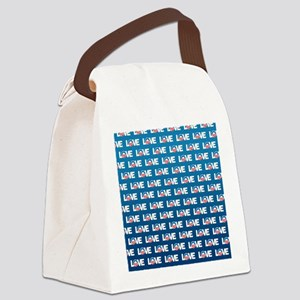 LOVE Obama Pattern Canvas Lunch Bag
