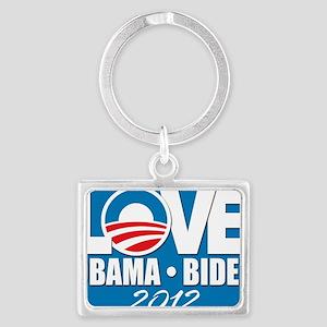 LOVE Obama Biden 2012 Landscape Keychain