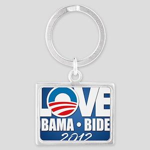 LOVE Obama Biden Landscape Keychain