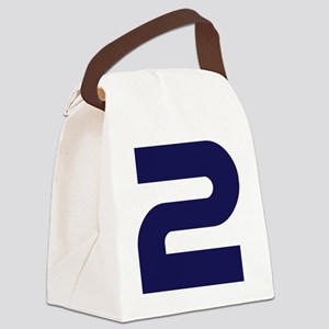 number_2 Canvas Lunch Bag