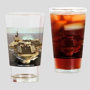 jfk cv framed panel print Drinking Glass