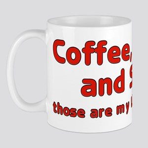 Coffee water soda are my liquid assets Mug