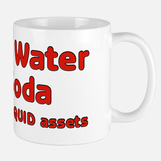 Coffee water soda are my liquid assets Mug