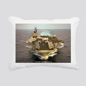 jfk cva large framed pri Rectangular Canvas Pillow