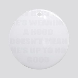 racial profiling rhyme Round Ornament