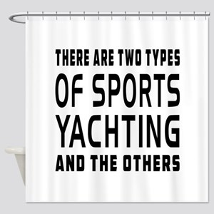 Yachting Designs Shower Curtain