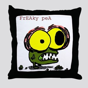 freaky pea color Throw Pillow