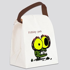 freaky pea color Canvas Lunch Bag