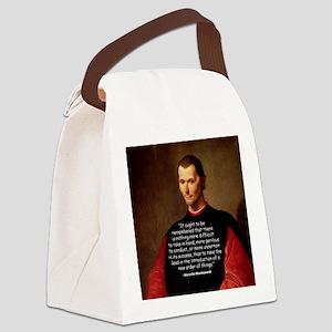 Machiavelli Lead Quote Color Canvas Lunch Bag
