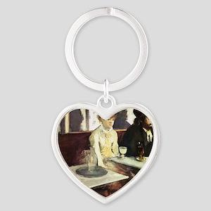 Edgar Degas AbsintheSC Heart Keychain