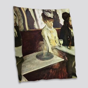 Edgar Degas AbsintheSC Burlap Throw Pillow